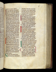 Coloured Initials, In Florus The Deacon's Commentary On St. Paul's Epistle To The Romans